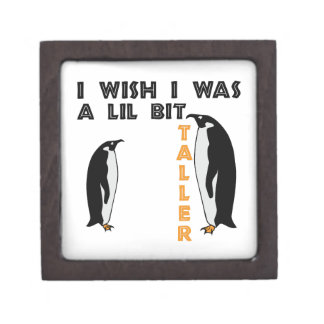 Taller Penguin Premium Keepsake Box