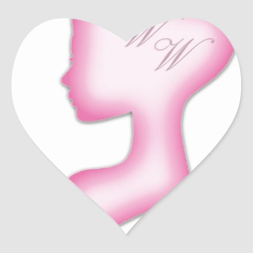 Taller sabio de las mujeres calcomania corazon