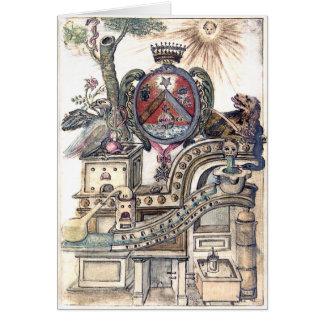 Taller simbólico de la alquimia tarjeta de felicitación