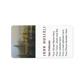 Taller than the Trees, Henry David Thoreau suite Label
