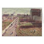 Talleres en Porta Romana, 1909 Tarjetón