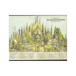 Tallest Buildings of Old World Canvas Print