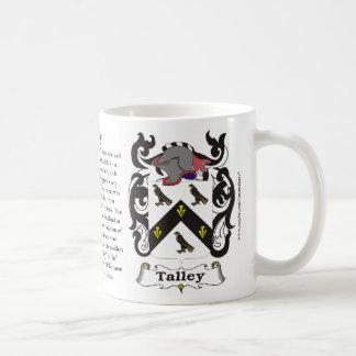 Talley, la historia, el significado y el escudo taza clásica