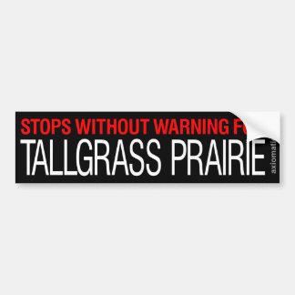 TALLGRASS PRAIRIE (WB) CAR BUMPER STICKER