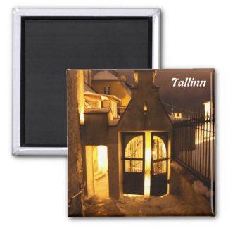 Tallinn encendida en imán del invierno