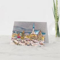 Tallinn Estonia Christmas Market Holiday Card