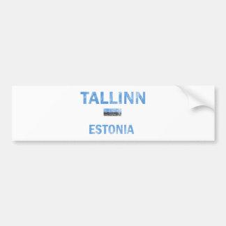 Tallinn Estonia Designs Bumper Sticker