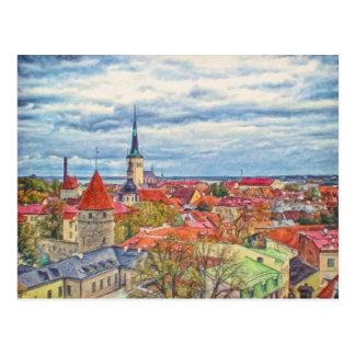 Tallinn Estonia por el mac de Shawna Tarjetas Postales