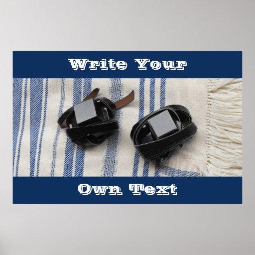 Tallis & Tefillin - Write Your Own Text Poster