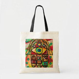 Tallis Tote Bag - City Life Hamsa
