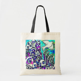 Tallis Tote Bag - City Of Israel Lavender