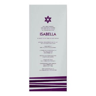 Tallit Bar Mitzvah in Metallic Silver Card