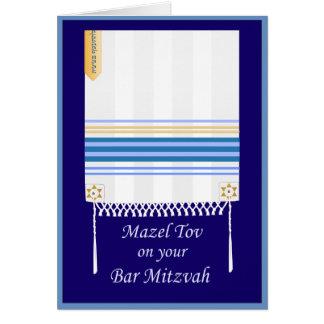 """""""Tallit"""" Bar Mitzvah Mazel Tov Card"""