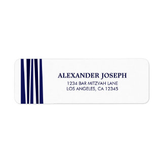 Tallit Bar Mitzvah Return Address Label
