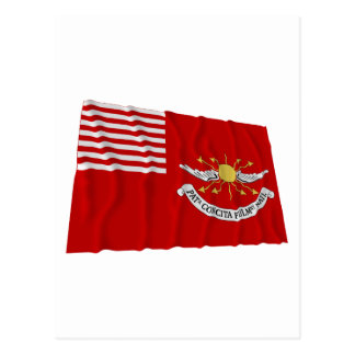 Tallmadge's Dragoons Waving Flag Postcard