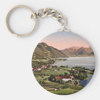 Talloires, Annecy, France classic Photochrom Keychain