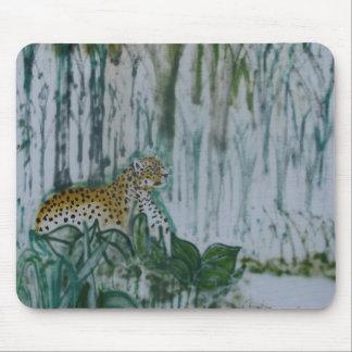 Tallos del leopardo tapete de ratones