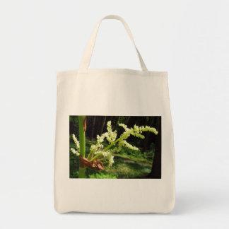 Tallos florecientes del ruibarbo bolsa tela para la compra