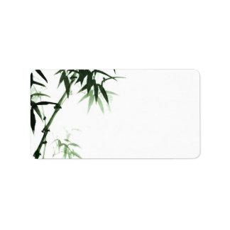 Tallos l etiqueta oriental del bambú del espacio etiquetas de dirección