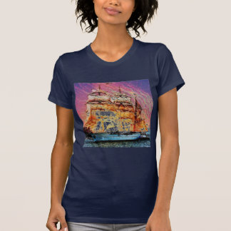 tallship and fireworks T-Shirt