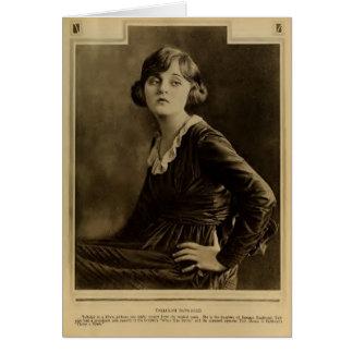 Tallulah Bankhead 1919 silent movie portrait Card