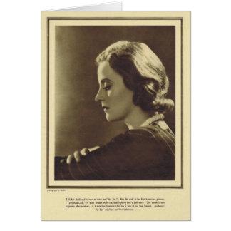 Tallulah Bankhead vintage portrait 1931 Card