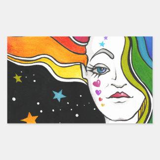 Tallulah Pop Art Diva Rectangular Sticker