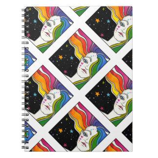 Tallulah Pop Art Diva Spiral Notebook