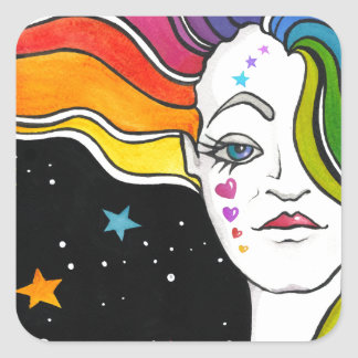Tallulah Pop Art Diva Square Sticker