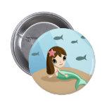 Tallulah the Mermaid Button