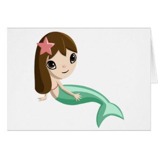 Tallulah the Mermaid Card