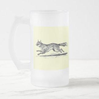 Tally Ho II Frosted Glass Beer Mug