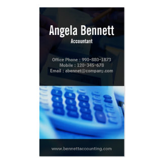 Tally Machine Accounting Blue Business Card