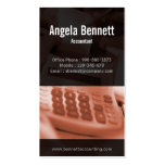 Tally Machine Accounting Brown Business Card
