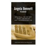 Tally Machine Accounting Ochre Business Card