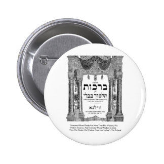 "Talmud ""Wisdom/Deeds"" Quote Gifts Tees Cards Pinback Button"