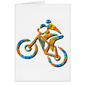 Talón de la bici empedrado tarjeta de felicitación