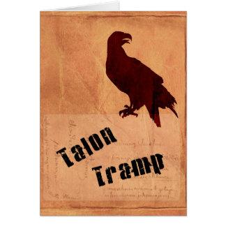 Talon Tramp Greeting Card