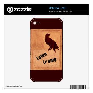 Talon Tramp iPhone 4 Skin Template