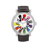 Talones coloridos reloj