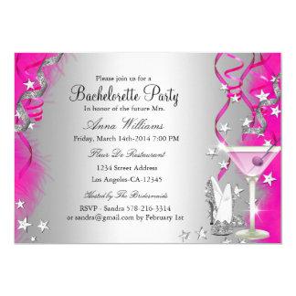 """Talones de la chispa y fiesta rosados de invitación 5"""" x 7"""""""