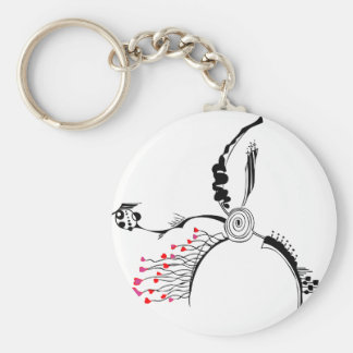 Talons of Mysterious Love Basic Round Button Keychain