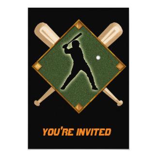 """Talud 1 del diamante de béisbol invitación 5"""" x 7"""""""