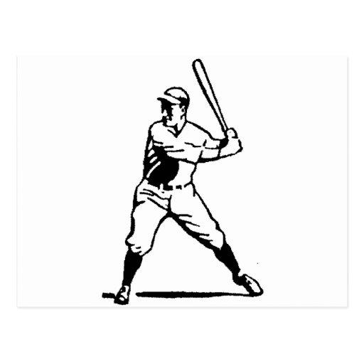 Talud blanco y negro del béisbol postales
