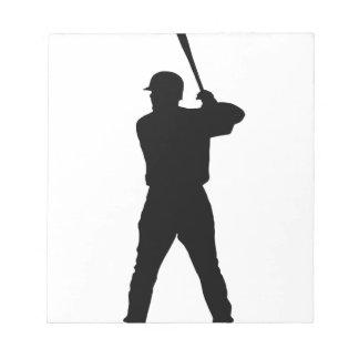 Talud del béisbol bloc de notas