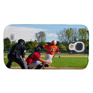 Talud del béisbol de la liga de la juventud que go funda para samsung galaxy s4