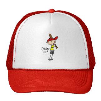 Talud del béisbol encima del gorra