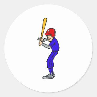 Talud del béisbol para arriba etiqueta redonda