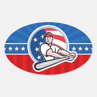 Talud del béisbol pegatina ovalada