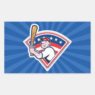 Talud del béisbol pegatina rectangular